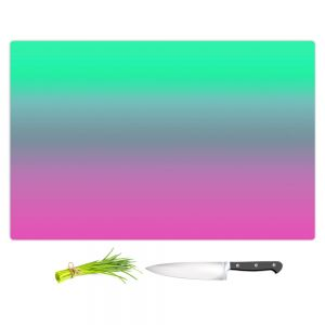 Artistic Kitchen Bar Cutting Boards | Susie Kunzelman - Ombre Pink Green