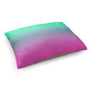 Decorative Dog Pet Beds | Susie Kunzelman - Ombre Pink Green