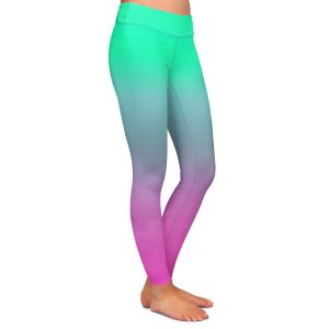 Casual Comfortable Leggings | Susie Kunzelman - Ombre Pink Green