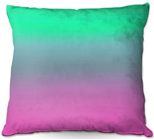 Decorative Outdoor Patio Pillow Cushion | Susie Kunzelman - Ombre Pink Green