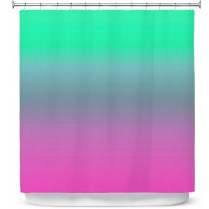 Premium Shower Curtains | Susie Kunzelman - Ombre Pink Green