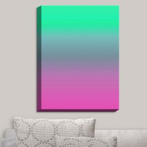 Decorative Canvas Wall Art | Susie Kunzelman - Ombre Pink Green | Ombre