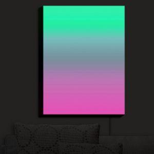 Nightlight Sconce Canvas Light | Susie Kunzelman - Ombre Pink Green | Ombre