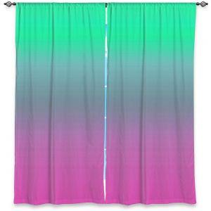Decorative Window Treatments | Susie Kunzelman - Ombre Pink Green