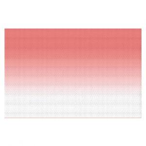 Decorative Floor Coverings | Susie Kunzelman - Ombre Pink Peach White