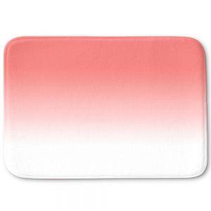 Decorative Bathroom Mats | Susie Kunzelman - Ombre Pink Peach White