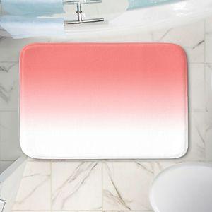 Decorative Bathroom Mats   Susie Kunzelman - Ombre Pink Peach White