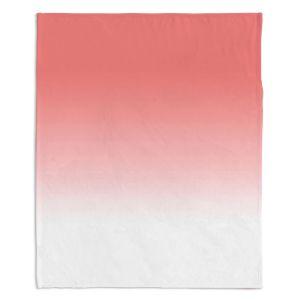 Artistic Sherpa Pile Blankets | Susie Kunzelman - Ombre Pink Peach White