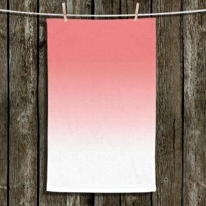 Unique Hanging Tea Towels | Susie Kunzelman - Ombre Pink Peach White | Ombre