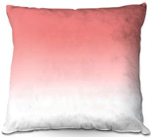 Decorative Outdoor Patio Pillow Cushion | Susie Kunzelman - Ombre Pink Peach White