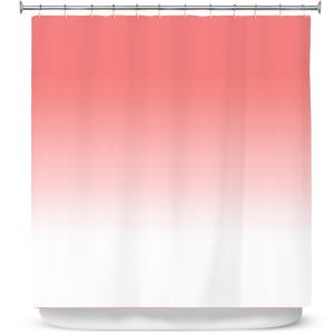 Premium Shower Curtains | Susie Kunzelman - Ombre Pink Peach White