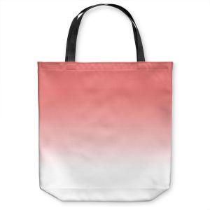 Unique Shoulder Bag Tote Bags |Susie Kunzelman - Ombre Pink Peach White