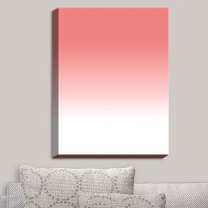 Decorative Canvas Wall Art | Susie Kunzelman - Ombre Pink Peach White | Ombre