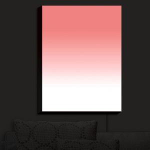 Nightlight Sconce Canvas Light | Susie Kunzelman - Ombre Pink Peach White | Ombre