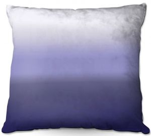 Decorative Outdoor Patio Pillow Cushion | Susie Kunzelman - Ombre Plum | Ombre Monochromatic