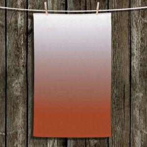 Unique Hanging Tea Towels | Susie Kunzelman - Ombre Potters Clay | Ombre