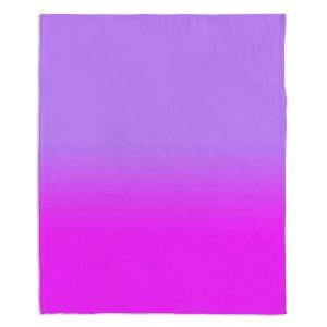 Decorative Fleece Throw Blankets | Susie Kunzelman - Ombre Purple