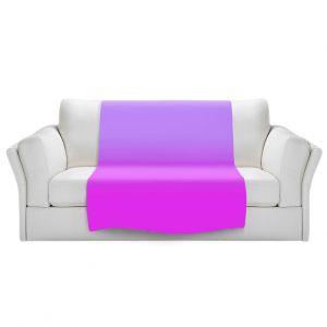 Artistic Sherpa Pile Blankets   Susie Kunzelman - Ombre Purple