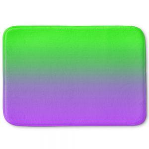 Decorative Bathroom Mats | Susie Kunzelman - Ombre Purple Green