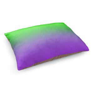Decorative Dog Pet Beds | Susie Kunzelman - Ombre Purple Green