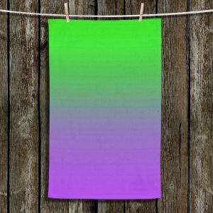 Unique Hanging Tea Towels | Susie Kunzelman - Ombre Purple Green | Ombre