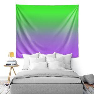 Artistic Wall Tapestry | Susie Kunzelman - Ombre Purple Green
