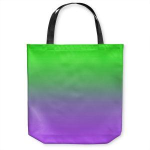 Unique Shoulder Bag Tote Bags |Susie Kunzelman - Ombre Purple Green