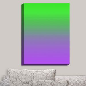 Decorative Canvas Wall Art | Susie Kunzelman - Ombre Purple Green | Ombre