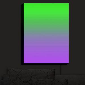 Nightlight Sconce Canvas Light | Susie Kunzelman - Ombre Purple Green | Ombre