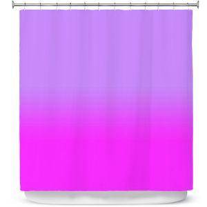Premium Shower Curtains   Susie Kunzelman - Ombre Purple