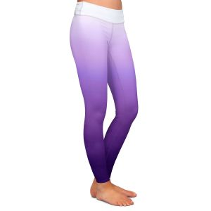 Casual Comfortable Leggings | Susie Kunzelman - Ombre Royal Velvet | Ombre Monochromatic