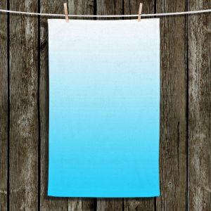 Unique Hanging Tea Towels | Susie Kunzelman - Ombre Sea Aqua | Ombre