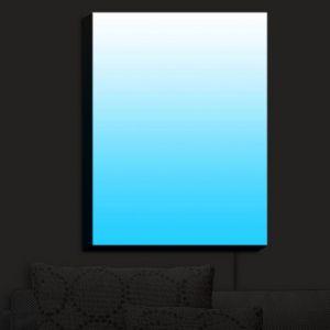 Nightlight Sconce Canvas Light | Susie Kunzelman - Ombre Sea Aqua | Ombre