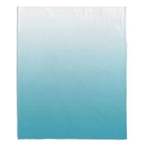 Decorative Fleece Throw Blankets | Susie Kunzelman - Ombre Sea Blue
