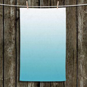 Unique Hanging Tea Towels | Susie Kunzelman - Ombre Sea Blue | Ombre