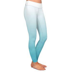 Casual Comfortable Leggings | Susie Kunzelman - Ombre Sea Blue