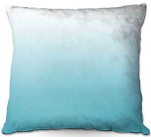 Throw Pillows Decorative Artistic | Susie Kunzelman - Ombre Sea Blue
