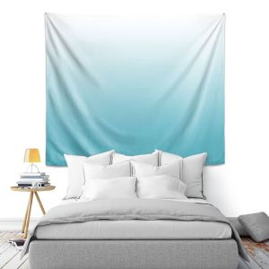 Artistic Wall Tapestry | Susie Kunzelman - Ombre Sea Blue