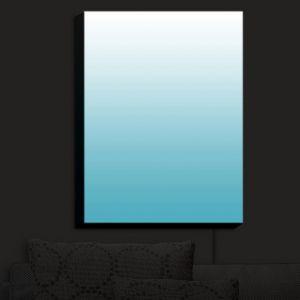 Nightlight Sconce Canvas Light | Susie Kunzelman - Ombre Sea Blue | Ombre