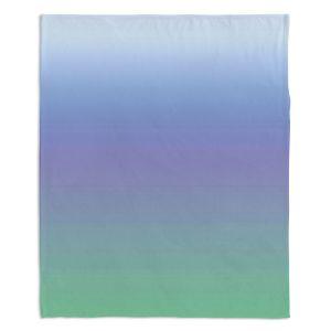 Decorative Fleece Throw Blankets | Susie Kunzelman - Ombre Sea Skies