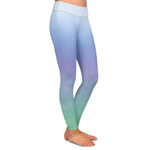 Casual Comfortable Leggings | Susie Kunzelman - Ombre Sea Skies