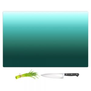 Artistic Kitchen Bar Cutting Boards | Susie Kunzelman - Ombre Seafoam | Ombre Monochromatic