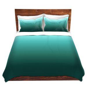 Artistic Duvet Covers and Shams Bedding | Susie Kunzelman - Ombre Seafoam | Ombre Monochromatic