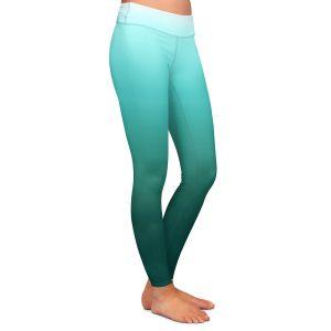 Casual Comfortable Leggings | Susie Kunzelman - Ombre Seafoam | Ombre Monochromatic