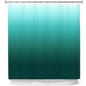 Premium Shower Curtains | Susie Kunzelman - Ombre Seafoam | Ombre Monochromatic