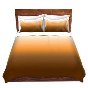 Artistic Duvet Covers and Shams Bedding | Susie Kunzelman - Ombre Sienna | Ombre Monochromatic