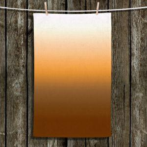 Unique Hanging Tea Towels | Susie Kunzelman - Ombre Sienna | Ombre Monochromatic