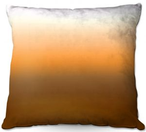 Decorative Outdoor Patio Pillow Cushion | Susie Kunzelman - Ombre Sienna | Ombre Monochromatic