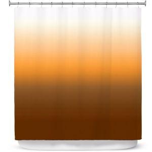 Premium Shower Curtains | Susie Kunzelman - Ombre Sienna | Ombre Monochromatic
