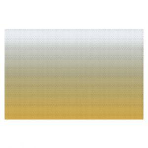 Decorative Floor Coverings | Susie Kunzelman - Ombre Spicy Mustard